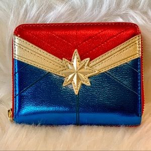 Captain Marvel Classic Wallet NWT